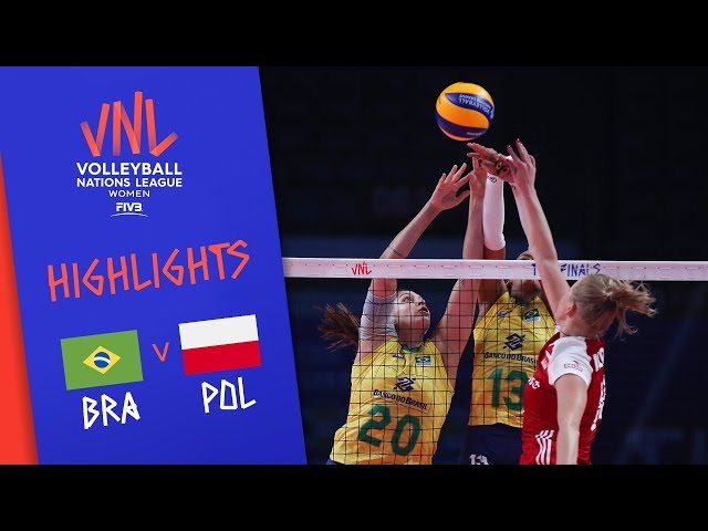 BRAZIL VS  POLAND – Highlights Women | Final Round | FIVB Volleyball